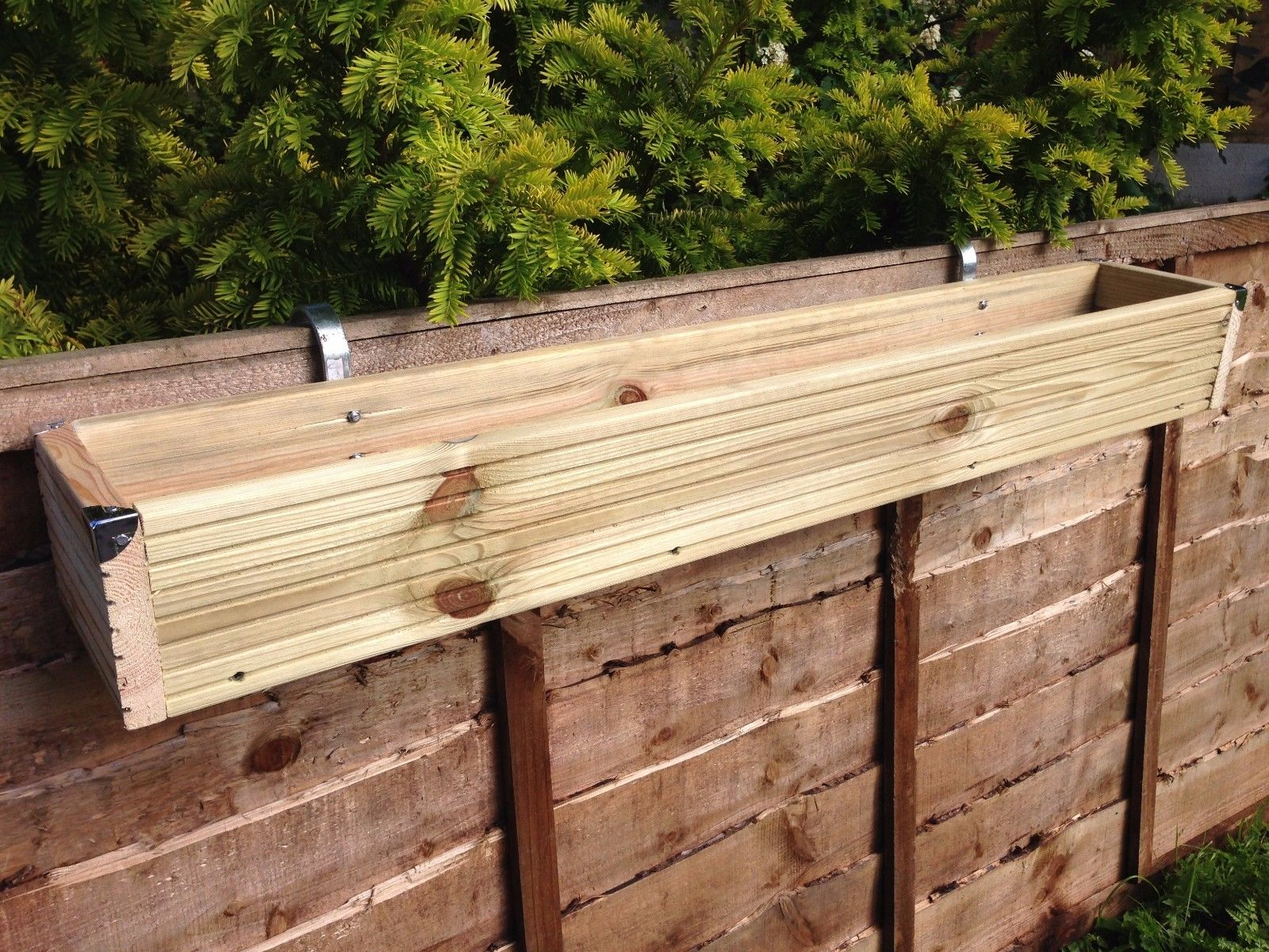Over The Fence Panel Hanging Balcony Wooden Planter